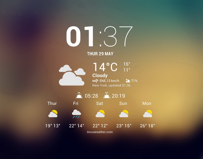 rainmeter weather widget