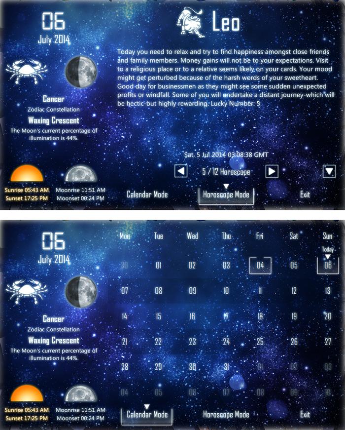 Calendar Moon Phase Horoscope_X Widget Download Gallery  Widget