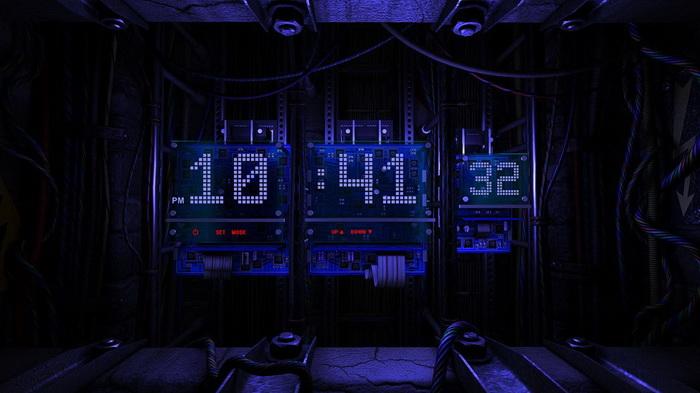 Electronic Chip Clock FULL SCREEN_X Widget Download Gallery
